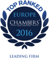 Top ranked, Chambers Europe 2016